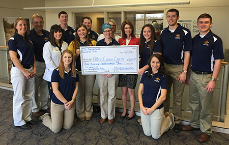 Ag Bus club donates to Bliss Cancer Center