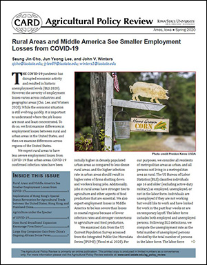 Spring 2020 Agricultural Policy Review