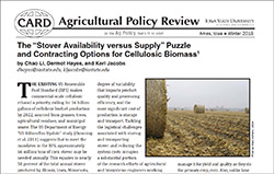 Winter 2018 Ag Policy Review