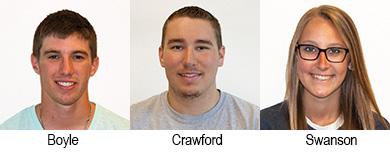 Trey Boyle, Hunter Crawford, Lilian Swanson