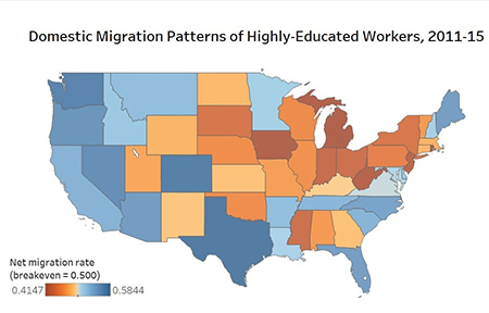 Job migration map