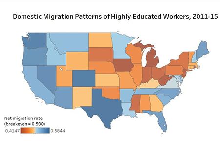 Job migration map