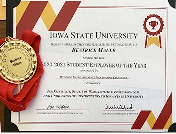 Maule medal, certificate