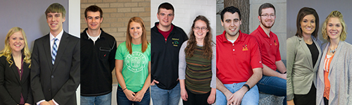 Spring 2017 Ag Bus Club scholarship winners