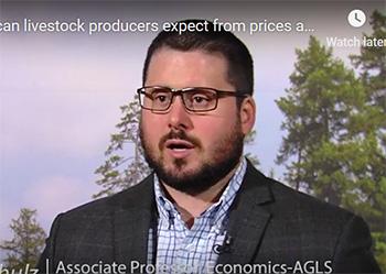 Lee Schulz, 2019 livestock forecast
