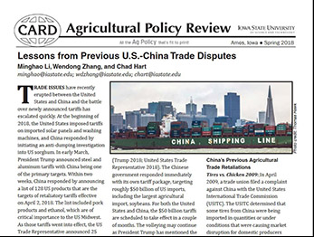 Spring 2018 Ag Policy Review