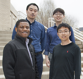 Chenzi Lv, Seungki Lee, (front, l to r) Alfred Nunoo Arthur, and Sicheng He.