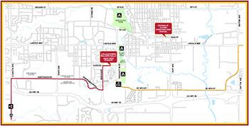 Ragbrai map through Ames