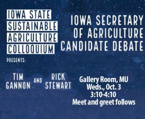 Secretary of ag debate