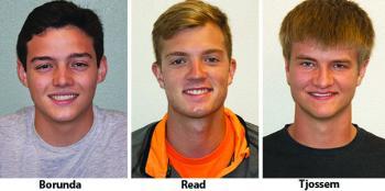 Jose Borunda, Brady Read, Cody Tjossem