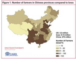map of farmers in Chinese provinces