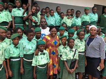 Dr. Ebby Luvaga at Zoe School, Nigeria