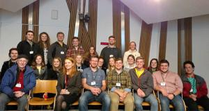 Study abroad group at Scottish Parliament