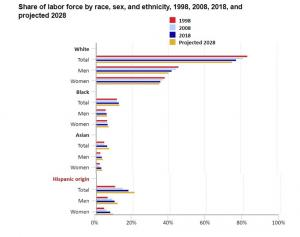 Composition of the U.S. Labor Force by Gender, Race, and Ethnicity