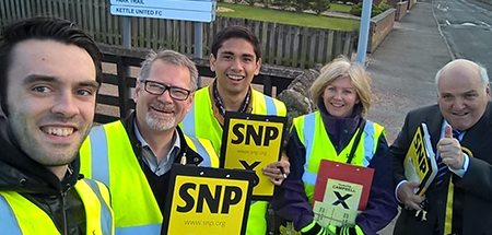 Brian Garrido canvasses Scottish voters