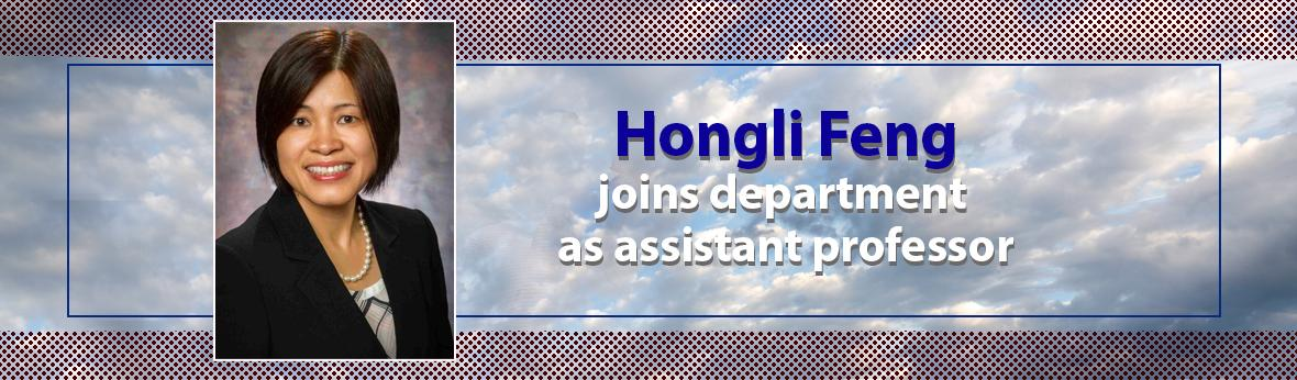Hongli Feng joins department