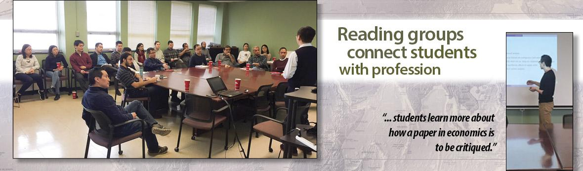Macro-development reading group enables students to learn about how a paper in economics is to be critiqued.